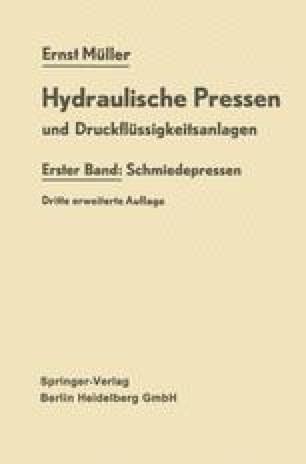Hydraulische Pressen und Druckflüssigkeitsanlagen