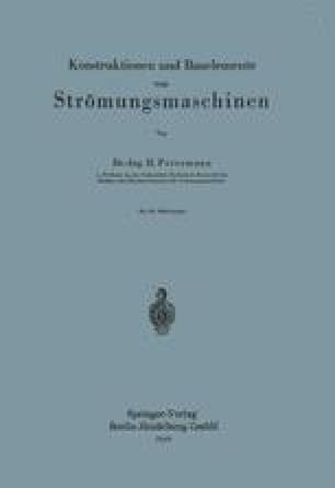 Konstruktionen und Bauelemente von Strömungsmaschinen