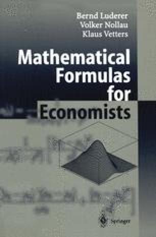 Mathematical Formulas for Economists