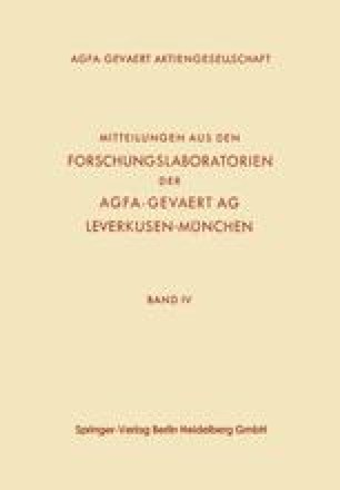 Mitteilungen aus den Forschungslaboratorien der Agfa-Gevaert AG, Leverkusen-München