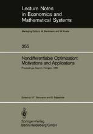 Nondifferentiable Optimization: Motivations and Applications