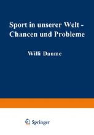 Sport in unserer Welt — Chancen und Probleme