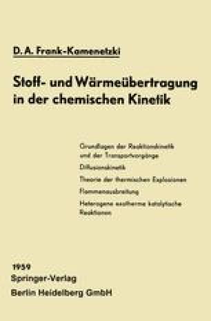 Stoff- und Wärmeübertragung in der chemischen Kinetik