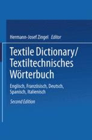 Textile Dictionary / Textiltechnisches Wörterbuch