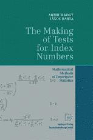 The Making of Tests for Index Numbers