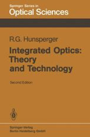 Integrated Optics: Theory and Technology