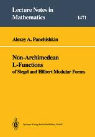 Non-Archimedean L-Functions of Siegel and Hilbert Modular Forms