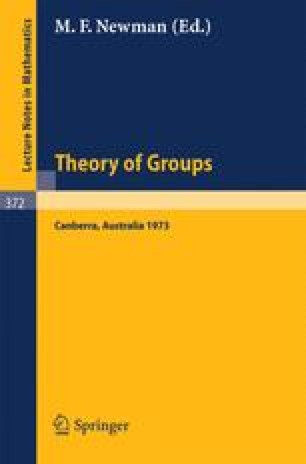 Proceedings of the Second International Conference on the Theory of Groups