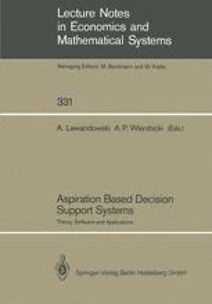 Aspiration Based Decision Support Systems