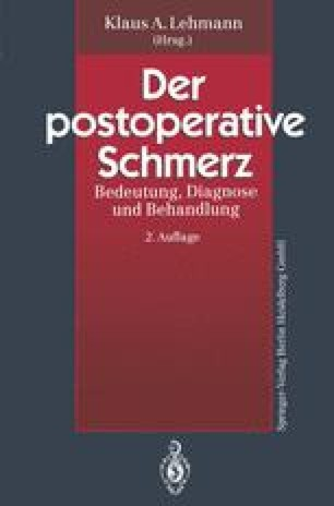 Der postoperative Schmerz