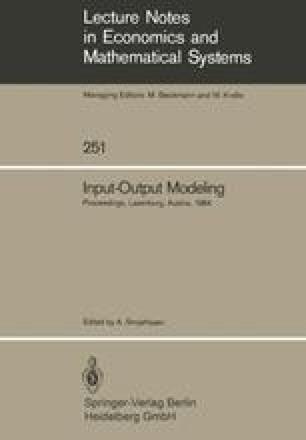 Input-Output Modeling