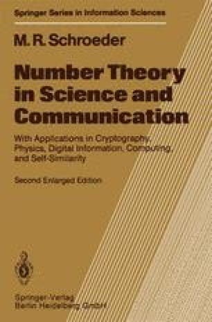 Number Theory in Science and Communication