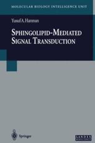 Sphingolipid-Mediated Signal Transduction