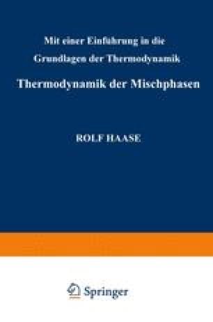Thermodynamik der Mischphasen
