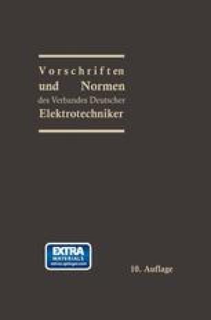 Vorschriften und Normen des Verbandes Deutscher Elektrotechniker