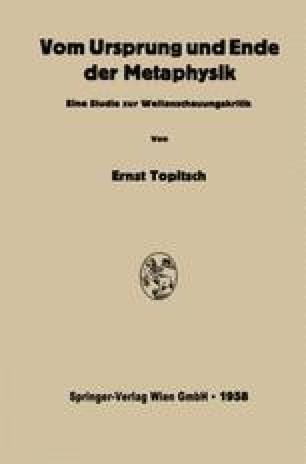 Vom Ursprung und Ende der Metaphysik