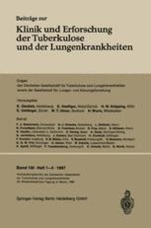 Verhandlungsbericht der Deutschen Tuberkulose-Tagung 1966
