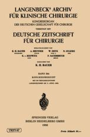 Verhandlungen der Deutschen Gesellschaft für Chirurgie