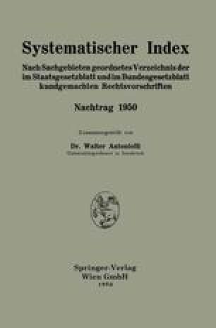 Systematischer Index