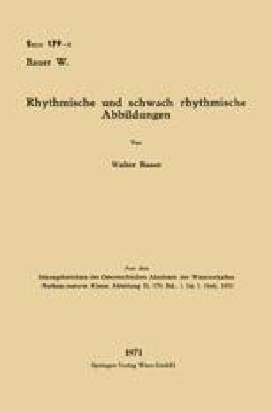 Rhythmische und schwach rhythmische Abbildungen