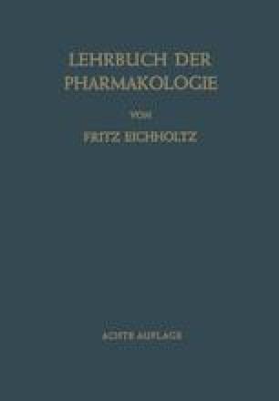 Lehrbuch der Pharmakologie im Rahmen einer Allgemeinen Krankheitslehre