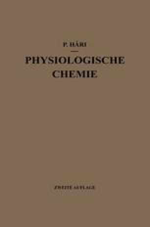 Kurzes Lehrbuch der Physiologischen Chemie
