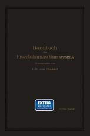 Handbuch des Eisenbahnmaschinenwesens