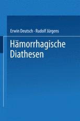 Hämorrhagische Diathesen