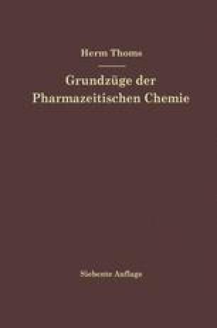 Grundzüge der Pharmazeutischen Chemie