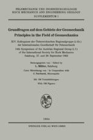 Grundfragen auf dem Gebiete der Geomechanik / Principles in the Field of Geomechanics