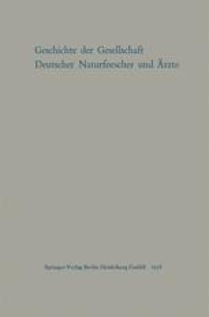 Geschichte der Gesellschaft Deutscher Naturforscher und Ärzte