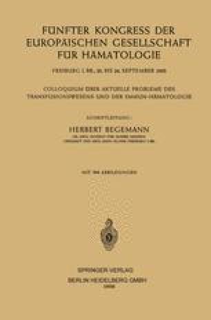 Fünfter Kongress der Europäischen Gesellschaft für Hämatologie