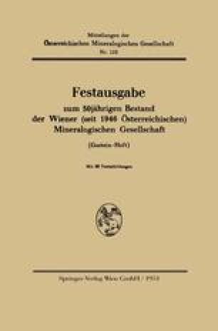 Festausgabe zum 50jährigen Bestand der Wiener (seit 1946 Österreichischen) Mineralogischen Gesellschaft