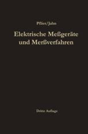 Elektrische Meßgeräte und Meßverfahren