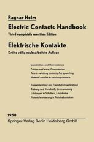Elektrische Kontakte / Electric Contacts Handbook