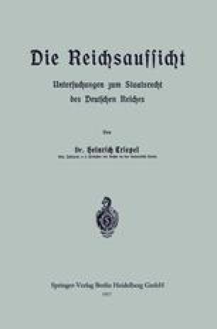Die Reichsaufsicht
