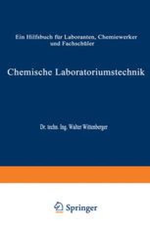 Chemische Laboratoriumstechnik