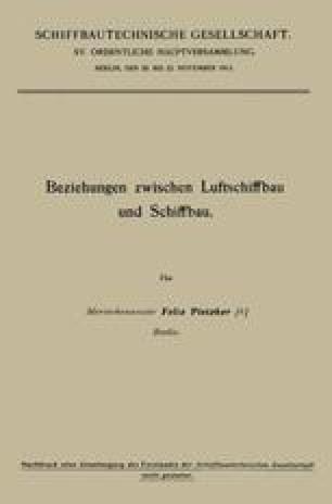 Beziehungen zwischen Luftschiffbau und Schiffbau