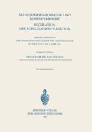 Schilddrüsenhormone und Körperperipherie / Regulation der Schilddrüsenfunktion