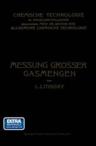 Messung Grosser Gasmengen