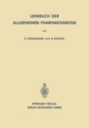Lehrbuch der Allgemeinen Pharmakognosie
