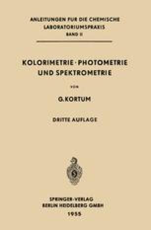 Kolorimetrie · Photometrie und Spektrometrie