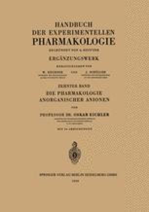 Die Pharmakologie Anorganischer Anionen