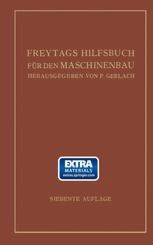 Freytags Hilfsbuch für den Maschinenbau