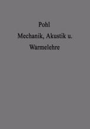 Einführung in die Mechanik Akustik und Wärmelehre