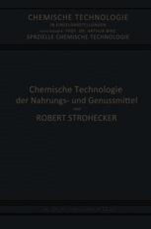 Chemische Technologie der Nahrungs- und Genussmittel