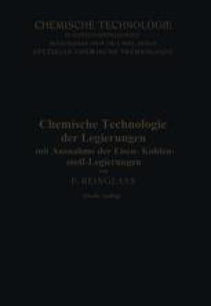 Chemische Technologie der Legierungen