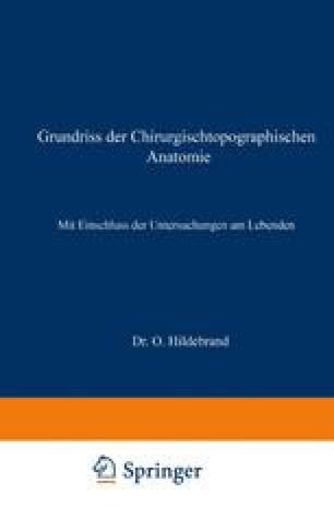 Grundriss der Chirurgischtopographischen Anatomie