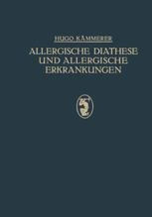 Allergische Diathese und Allergische Erkrankungen