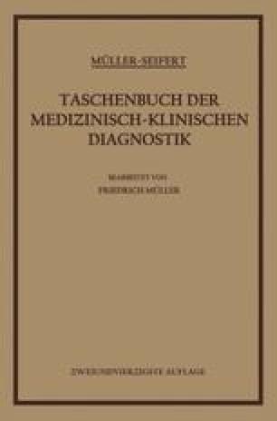 Taschenbuch der Medizinisch-Klinischen Diagnostik